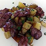recette pomme de terre sautée aux foie de volaille confits