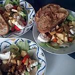 recette Salade composée chèvre