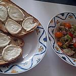 recette Salade d été au chèvre jambon tomates
