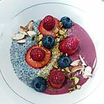 recette Smoothie bowl fruits rouges et pudding graines de chia