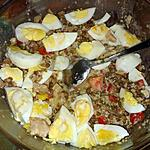 recette Salade lentilles taboulé poulet rôti
