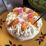 recette Sponge cake au mascarpone et brugnons