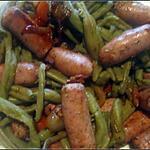 recette Chipolatas aux herbes au haricot vert.