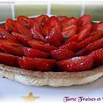recette Tarte aux Fraises sur Compotée de Rhubarbe