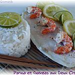 recette Pangas et Gambas aux Deux Citrons en Papillotte
