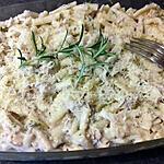 recette Gratin de macaroni thon crème fraîche