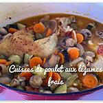 recette CUISSES DE POULET AUX LÉGUMES FRAIS