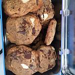 recette Cookies noir et lait