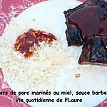 recette Travers de porc marinés au miel, sauce barbecue