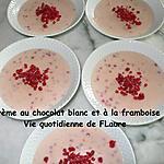 recette Crème au chocolat blanc et à la framboise