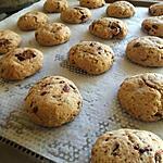 recette Cookies chocolat/ beurre de cacahuète
