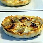 recette Tartelette Sucrée-Salée au Boudin Blanc et Reblochon