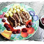 recette magrets de canard grillés , sauce aux cerises