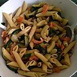 recette Salade de pâtes au saumon fumé et courgettes