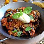 recette Aubergines aux tomates fraîches et à la mozzarella
