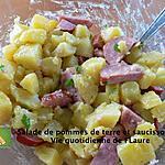 recette Salade de pommes de terre et saucisson fumé