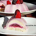 recette Entremets aux fruits rouges avec un seul moule...