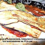 recette Gratin d'aubergines, tomates et parmesan