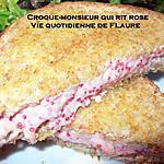 recette Croque-monsieur qui rit rose