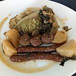 recette choux vert braisé merguez boulettes d'agneau p de terre