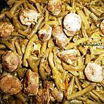 recette Haricots verts au saté et saucisse paysanne