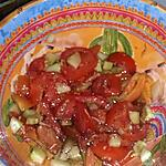 recette Salade concombre tomates échalotes menthe