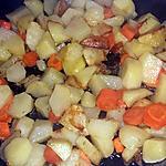 recette Poêlée de pommes de terre carottes pommes Chayottes