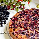 recette Gâteau yaourt aux mûres
