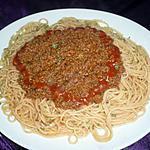 recette Spaghettis bolognaise express