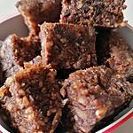 recette petits carrés aux dattes, noisettes et chocolat