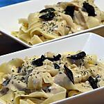 recette Tagliatelles Sauce Foie Gras et Lamelles de Truffe