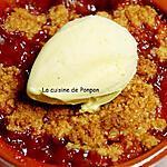 recette Crumble de pomme et prune parfumé au patxaran