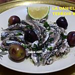 recette La Danièle-Sardines sauce blanche à l'ail au citron et persil-Terroir Bônois