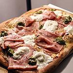 recette Pizza Mortadelle et Mozzarella di Bufala
