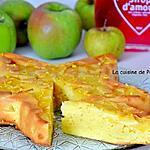 recette Gâteau yaourt aux pommes et combava
