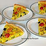 recette Tarte aux 2 courgettes, navet et tomates cerises, végétarien