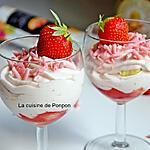 recette Mousse aux fraises et chocolat blanc, sans oeufs