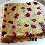 recette Gâteau courgette (version chocolat blanc, framboises)