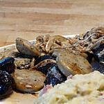 recette Lamelles de Boudins Grillées et Oignons Confits