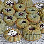 recette Muffin kiwi, spiruline, pavot et confiture de framboise
