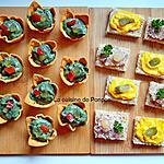 recette Amuse bouche avec guacamole et spiruline et toast avec rouille ou terrine strasbourgeoise