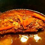 recette Rôti haché  carottes et  sa sauce (pain de viande )
