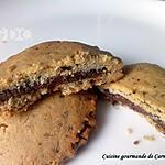 recette Biscuits sablés aux amandes fourrés au chocolat noisette