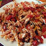 recette pates au poulet et poivrons