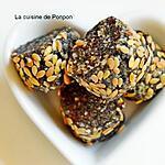 recette Tranches d'énergie noix de cajou, pruneaux, dattes, linette et spiruline, vegan