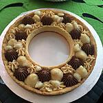 recette Tarte number cake curd poire ganache monté chocolat tonka crème mascarpone caramel