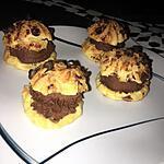 recette Choux aux pépites de chocolat fourrés ganache chocolat tonka