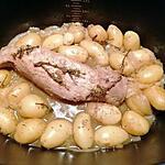 recette Filet mignon de porc au thym et pommes de terre grenailles