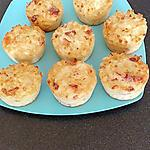 recette muffins de coquillette pancetta