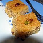 recette Basboussa aux pistaches